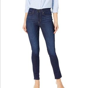 LEVI STRAUSS & CO BLUE HI-RISE SKINNY JEANS